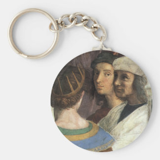 School of Athens by Raphael, Vintage Renaissance Keychain
