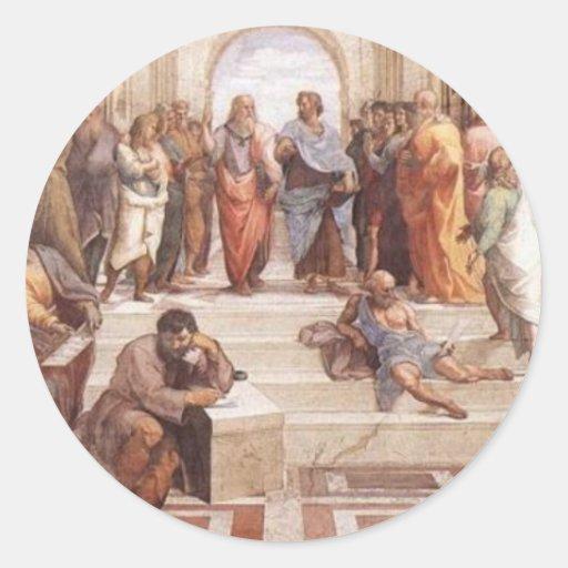 School of Athens Classic Round Sticker