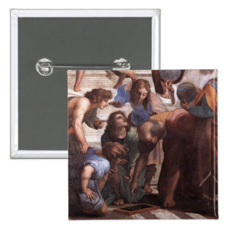 School of Athens (detail - Euclid) Pinback Buttons