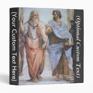 School of Athens (detail - Plato & Aristotle) 3 Ring Binder