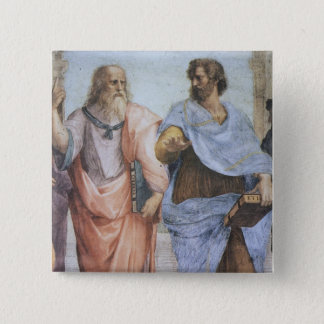 School of Athens (detail - Plato & Aristotle) Button