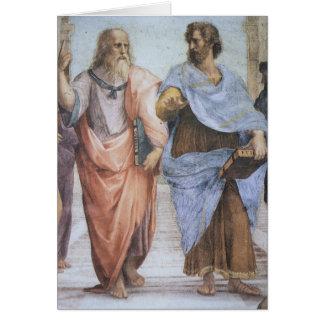 School of Athens (detail - Plato & Aristotle) Card