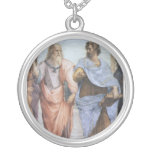 School of Athens (detail - Plato & Aristotle) Personalized Necklace