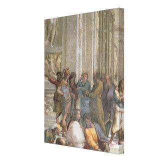School of Athens, from the Stanza della Canvas Print