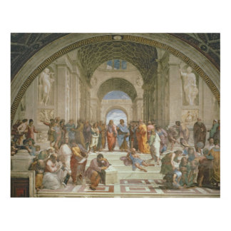 School of Athens, from the Stanza della Wood Wall Art