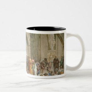 School of Athens, from the Stanza della Two-Tone Coffee Mug