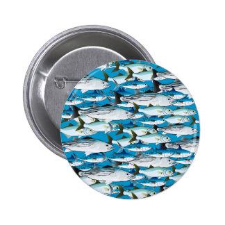 School of Atlantic Surf Fish in blue Button