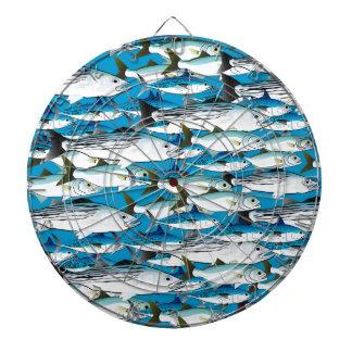 School of Atlantic Surf Fish in blue Dartboards