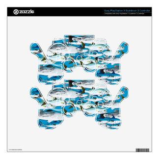 School of Atlantic Surf Fish in blue PS3 Controller Skins