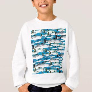 School of Atlantic Surf Fish in blue Sweatshirt