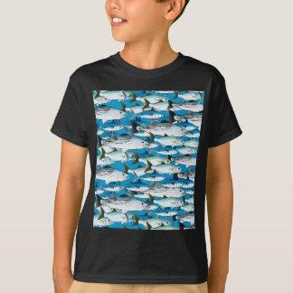 School of Atlantic Surf Fish in blue T-Shirt