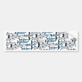 School of Barracuda fish pattern Bumper Sticker