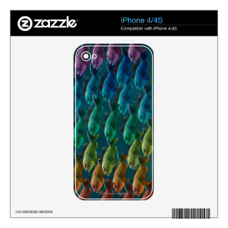 School of black sea bass in the colors of the skin for the iPhone 4S