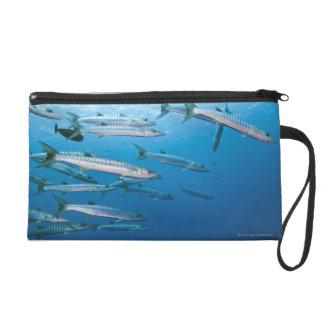 School of blackfin barracuda (Sphyraena qenie) Wristlet Purse