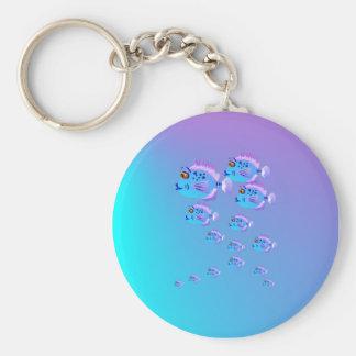 School Of Blue Fish Keychain