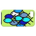 School of Christian Fish Symbols - Blue - iPhone 5 Cover