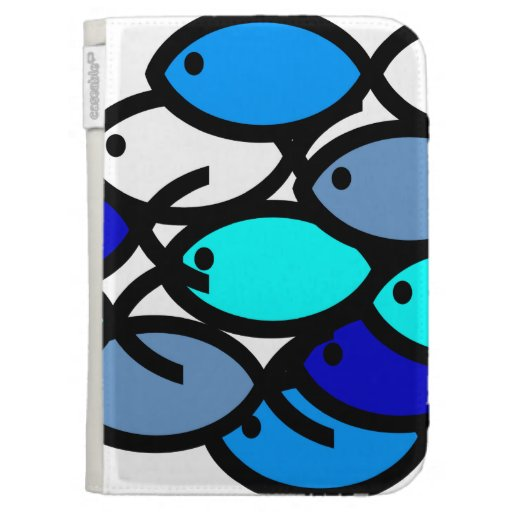 School of Christian Fish Symbols - Blue - Kindle Cover