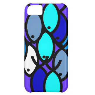 School of Christian Fish Symbols - Blue - Case For iPhone 5C