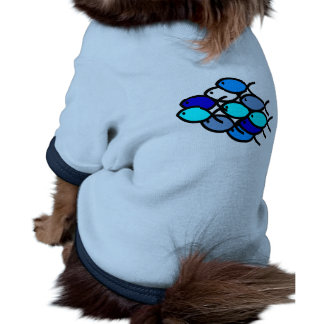 School of Christian Fish Symbols - Blue - Pet Clothing