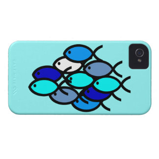 School of Christian Fish Symbols - Blue - iPhone 4 Cover