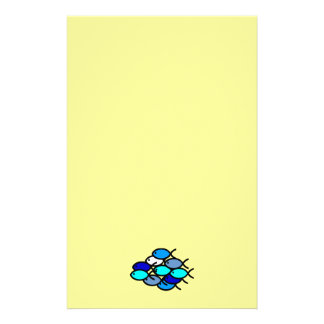 School of Christian Fish Symbols - Blue - Stationery
