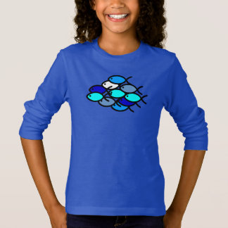 School of Christian Fish Symbols - Blue - T-Shirt