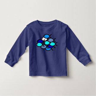 School of Christian Fish Symbols - Blue - Toddler T-shirt