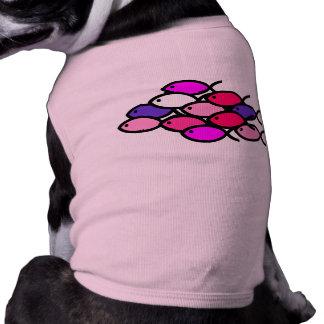 School of Christian Fish Symbols - Pink Dog Tee Shirt