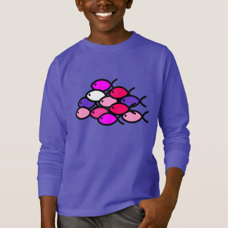 School of Christian Fish Symbols - Pink T-Shirt