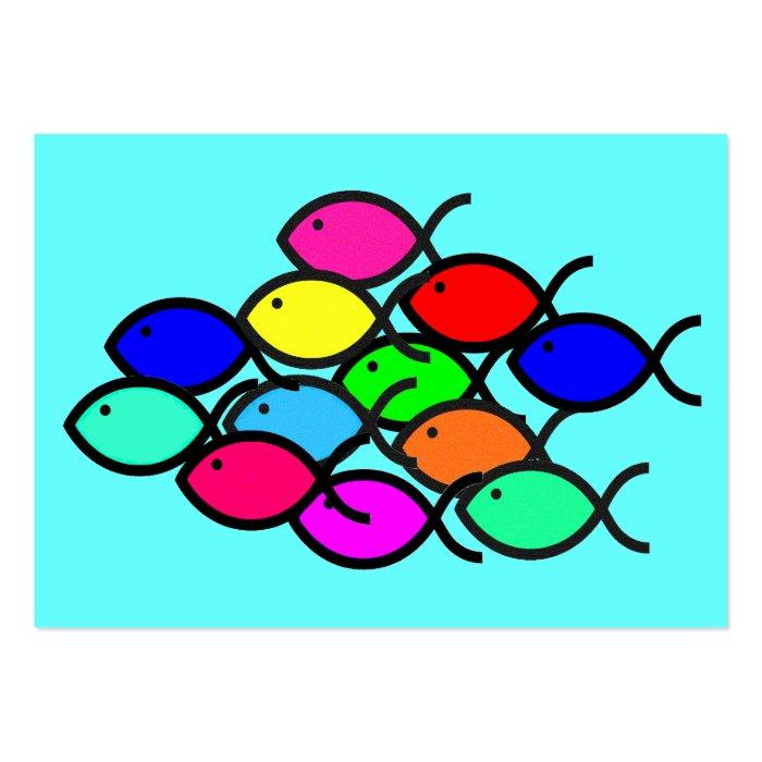 School of Christian Fish Symbols - Tract Cards /