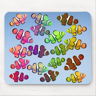 School of Colorful Clownfish Mousepad