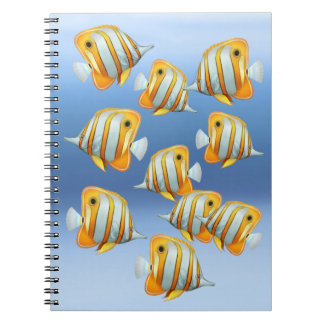 School of Copperband Butterfly Fish Notebook