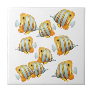 School of Copperband Butterfly Fish Tile