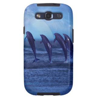 School of dolphins by moonlight samsung galaxy SIII cover