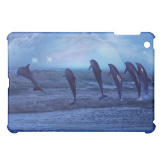 School of dolphins by moonlight iPad mini covers