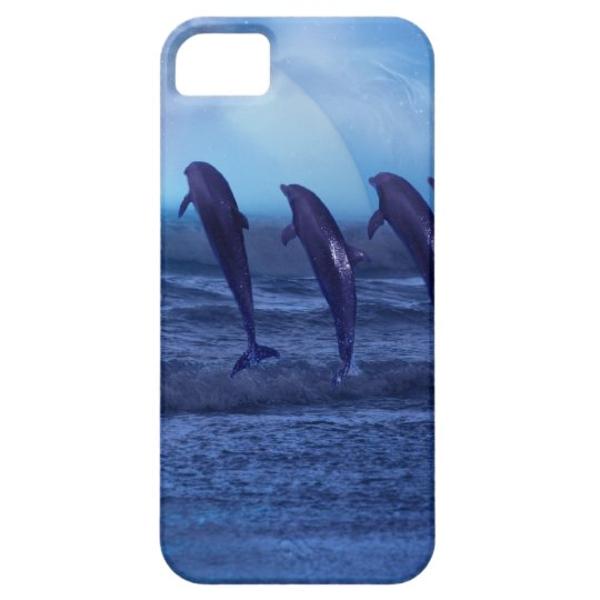 School of dolphins by moonlight iPhone SE/5/5s case