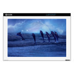 "School of dolphins by moonlight decal for 17"" laptop"