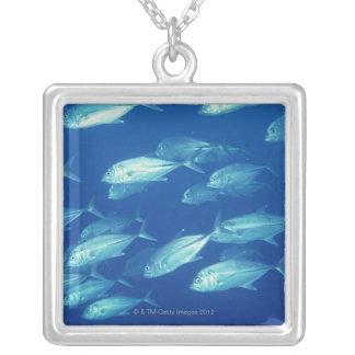 School of Fish 4 Square Pendant Necklace