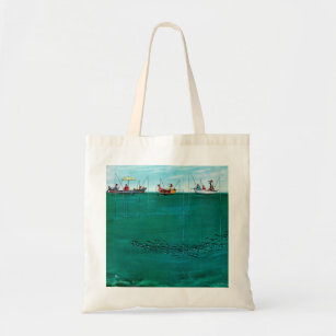 21251101c5272 School of Fish Among Lines by Thornton Utz Tote Bag