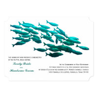 School of Fish Catholic Wedding Invitation