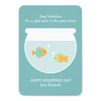 School of Fish Classroom Valentines Card