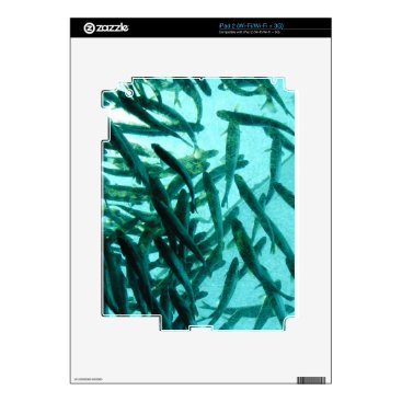 Beach Themed School of Fish Decal For The iPad 2
