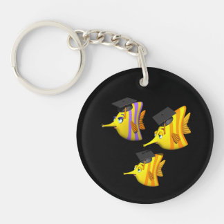 School Of Fish Double-Sided Round Acrylic Keychain