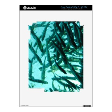 Beach Themed School of Fish iPad 3 Decals