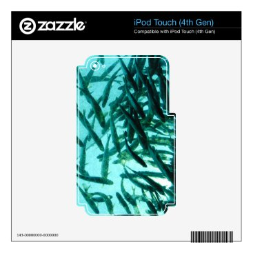 Beach Themed School of Fish iPod Touch 4G Decal