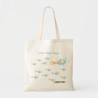 School of Fish Organic Planet Reusable Canvas Bags
