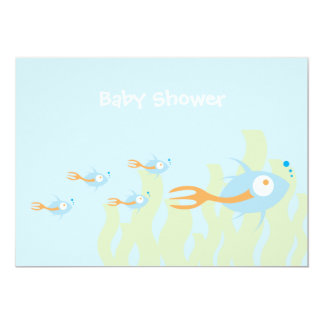 School of Fish Organic Planet Shower Invitations