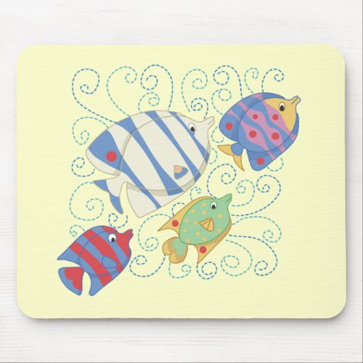 School of Fish T-shirts and Gifts Mouse Pad