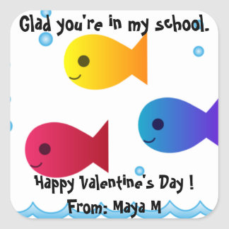 School of Fish Valentine Sticker