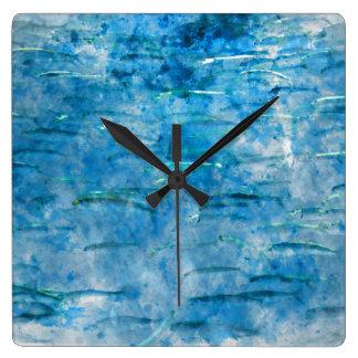 School of Fish Watercolor Square Wall Clock